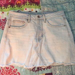 AEO Light Denim Vintage Hi-Rise Skirt